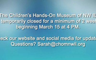 Children's Museum Temporarily Closed